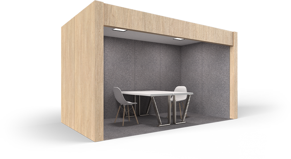 structure and noise cancellation with flexible office space solutions with CAP